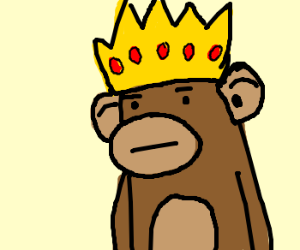 the baboon king is unamused