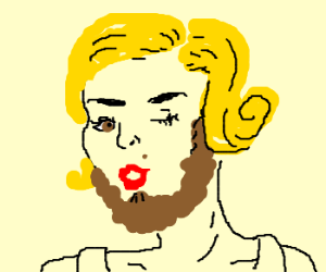 bearded marilyn monroe