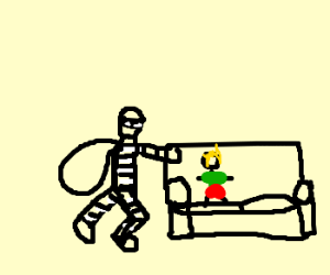 Chuck Norris gets his ass whooped - Drawception