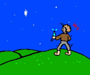 Drunken Hobbit Looking At Stars