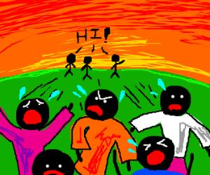 Naked stickmen says hi