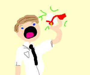 Mormon eats a kryptonian egg