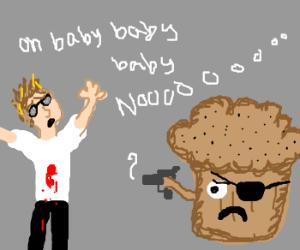 Poppyseed muffin shoots Justin Beiber