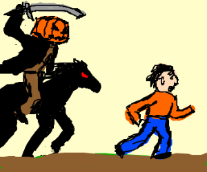 Horrible Horseman Hunts Humans