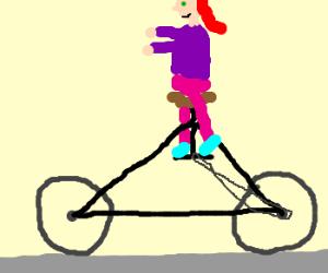 I can ride my bike with no handlebars