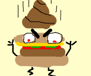 Who put crap on Angry Burger ?