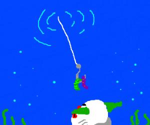 Dream clownfishing with gummi worms