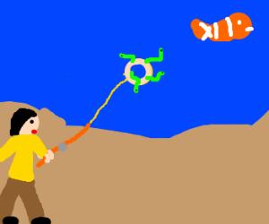Fishing 4 Nemo w/ donut with greenworms