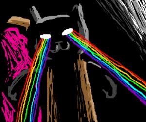 Nyan Cat with laser eyes!