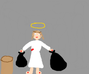 Jesus takes out the trash! (literally)