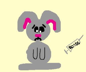 Bunny is ashamed of taking steroids