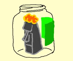 Hard Rock Ginger Head in a Jar