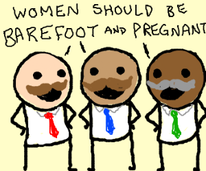 Multicultural mustachioed misogynists