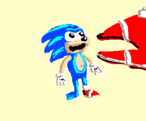 Sonic gets eaten by his own shoe