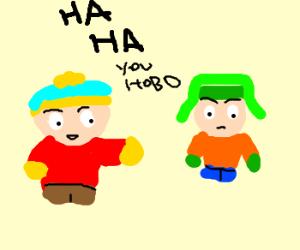 Kartman discriminates homeless Kyle