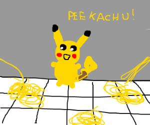 Pikachu Can Peek At You Drawception