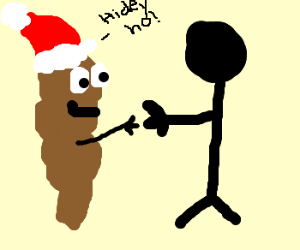 Mr. Hankey meets stickman