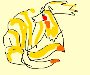 ninetails with makeup