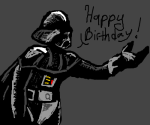 Darth Vader wishes you a happy birthday