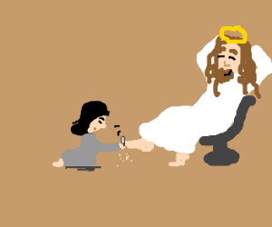 jesus gets a pedicure