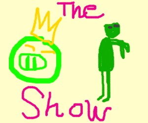 the alien green pig and zombie show