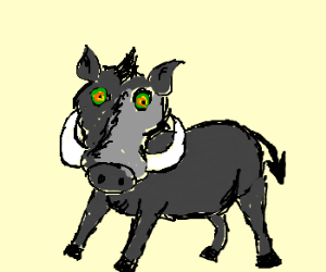 All hail satan, the hypno-warthog!