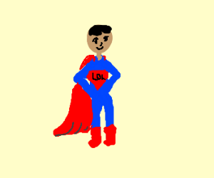 "Superman expands, reveals ""LOL"" on chest"