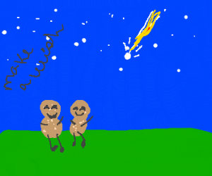 Peanuts watching shooting star