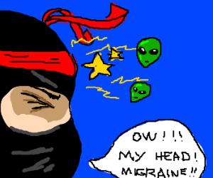 Ninja lightning alien migraine