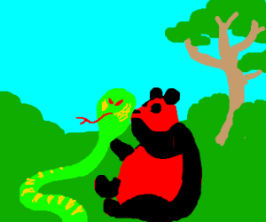 cobra and red panda have a plan