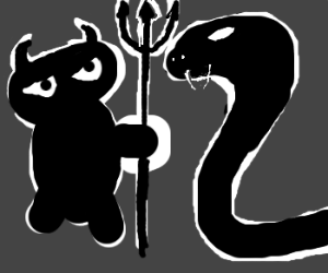 Imp challenges serpent