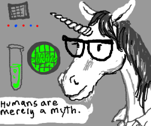 Unicorn Scientist denys theory of humans