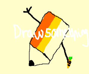 drawsomething symbol holding a carrot