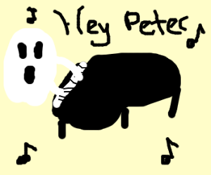 """ghost plays & sing """"hey peter"""" on piano"""
