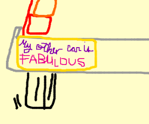 """""""My other car is FABULOUS"""" bumpersticker"""