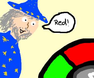 Wizard playing 'Simon Says'