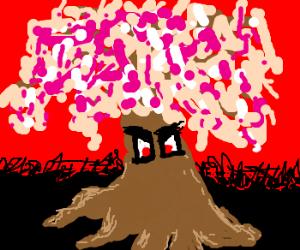 Evil cherry blossom tree