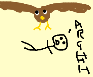 Giant eagle drops Fat Man