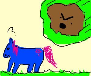 Angry meteor falling on My Little Pony