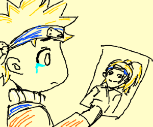 naruto crys seeing a picture of a woman