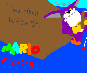 Paper mario can 39 t go in water for Mario go fish