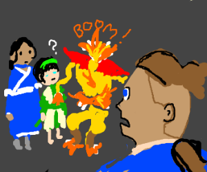 Avatar spontaneously combusts