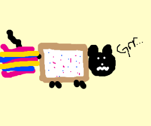 disgruntled nyan cat