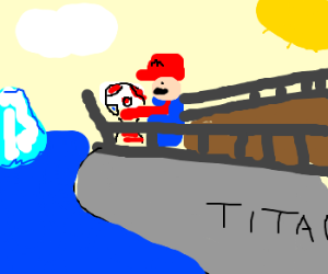 Mario re-enacts Titanic with Toad