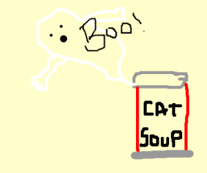 Haunted can of Cat Soup.