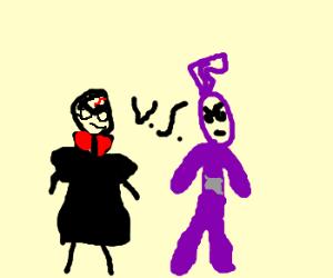 Harry Potter badguy vs purple Teletubby