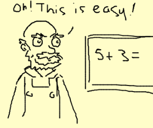 Groundskeeper Willie finds math Easy!