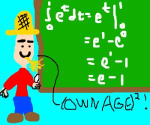 Farmer OWNS a math equation!