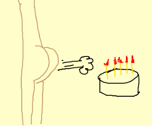 A Girl Fart In A Cake Drawception