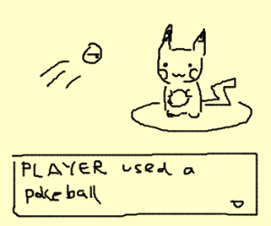 Catching Pikachu in Pokemon